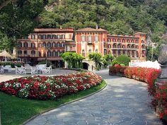 Villa d'Este, Lake Como, Italy.  Amazing hotel.  I had a magical stay.