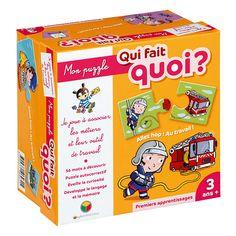 Mon puzzle : Qui fait quoi ? Oxybul pour enfant de 3 ans à 5 ans - Oxybul éveil et jeux >> 13€