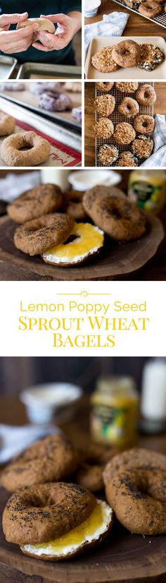 Bagels are easy and fun to make at home. I served these Lemon Poppy Seed Sprouted Wheat Bagels with cream cheese and lemon curd.