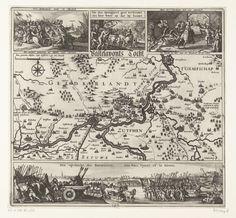 Inval van Hendrik van den Bergh in de Veluwe, 1624, Claes Jansz. Visscher (II), 1624