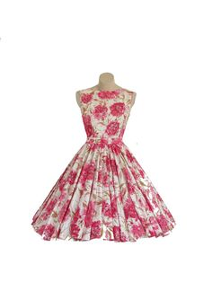 1950s Floral Day Dress - Vintage Philosophy, etsy shop.