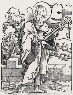 Beham, Hans Sebald: »Die Zwölf Apostel und Christus als Salvator mundi«, Hl. Petrus c.1530