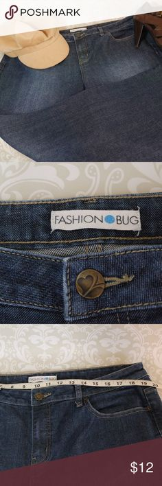 PLUS Fashion Bug Size 16 P Wide Leg Jeans Very good condition medium dark denim jeans.  Size 16 Petite.  Perfect addition to your wardrobe.    Bundle your likes for my best offer.  The more items the bigger discount I can offer.    Thank you for shopping my Closet! Fashion Bug Jeans Flare & Wide Leg