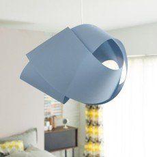Suspension Contemporain Node coton bleu baltique n°3 1 x 60 W INSPIRE