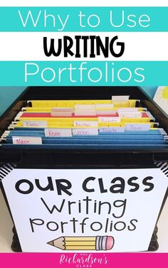 Are you using writing portfolios with your students? This post might convince you that you should be! Students find value in them, and they help with parent conferences. Plus, see how writing portfolios can come in handy in RTI. Writing Mini Lessons, Writing Lesson Plans, Writing Resources, Writing Activities, Classroom Resources, Classroom Ideas, Kindergarten Writing, Teaching Writing, Writing Offices