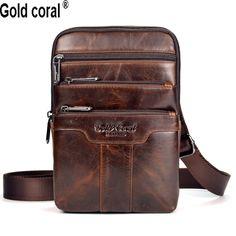 새로운 도착 보증 정품 가죽 남성 메신저 가방 캐주얼 비즈니스 작은 어깨 가방 크로스 바디 여행 가방