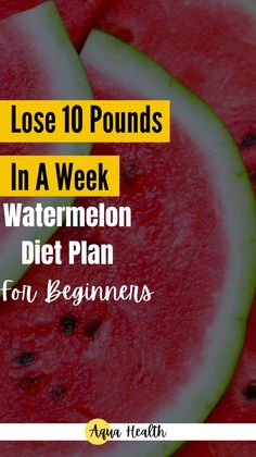 Have you ever heard of the watermelon diet? Learn to lose weight with the watermelon diet plan. Let me take you into the world of the watermelon diet and see for yourself how you can use it to lose 10-15 pounds fast and safely. #dietandnutrition #diet #watermelondiet
