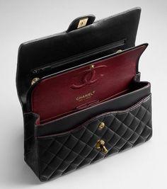 7ec037548045 #womensblackhandbags Bolsas Channel, Chanel Classic Handbag, Chanel Classic  Jumbo, Chanel