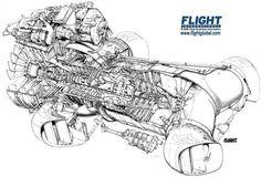 Rolls Royce Pegasus Cutaway