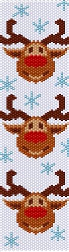 FDEkszers Designs Reindeer Party Even Count Peyote Stitch Digtal Download Pattern