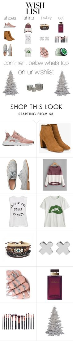 """""""#PolyPresents: Wish List"""" by alanwolfeee ❤ liked on Polyvore featuring NIKE, Aquazzura, Gap, Sans Souci, Witchery, Dolce&Gabbana, M.O.T.D Cosmetics, Fuji, Northlight Homestore and contestentry"""