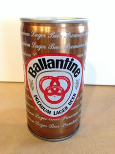 Ballantine Premium Lager Beer Can Crimped Steel PT