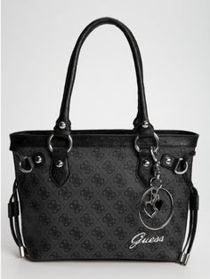 Amazon.com: GUESS Tryst Small Carryall, BLACK: Clothing