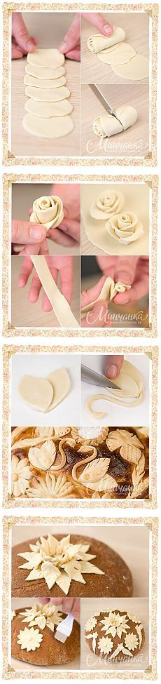 Easy way to make fondant roses. Decoration Patisserie, Food Decoration, Cake Cookies, Cupcake Cakes, Cupcakes, Bundt Cakes, Just Desserts, Dessert Recipes, Pie Crust Designs