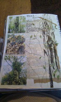 New Nature Landscape Illustration Trees Ideas A Level Art Sketchbook, Sketchbook Layout, Textiles Sketchbook, Sketchbook Inspiration, Sketchbook Ideas, Art Alevel, Nature Journal, Landscape Illustration, Patterns In Nature