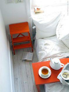 Interiors in Orange/Ikea via Designchen