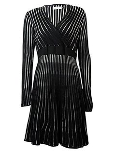 Calvin Klein White Womens Plus Striped Sweater Dress Black 1X *** Be sure to check out this awesome product.