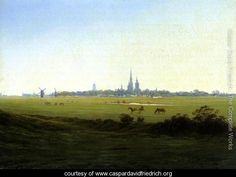 """Meadows Near Greifswald"" circa 1822 - Caspar David Friedrich - www.caspardavidfriedrich.org ~~~ Location: Kunsthalle, Hamburg, Germany"