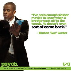 i've seen enough slasher movies to know when a brother goes off to the woods, he doesn't even sort of come back. via psych_usa on twitter