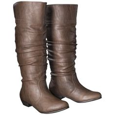Women's Mossimo Supply Co. Kaylor Tall Slouch Boot - Brown  - Target.com $39.99