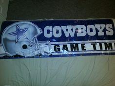 "Dallas Cowboys 6ft x 2ft ""Gametime"" Vinyl Banner"