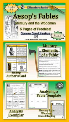 Enjoy this 5 Page Freebie for Analyzing and Interpreting Aesop's Fables.
