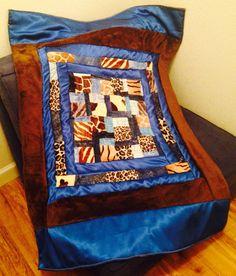 Baby boy textured quilt