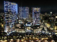 City of Dreams en Macao, China: Construido justamente frente al edificio antes mencionado, el Venetian, tuvo un costo de 2 mil 300 millones de dólares. Es un complejo de casinos que cuenta con hoteles y residencias además de un centro comercial.