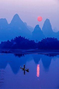 Sunset at Li River