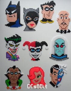 Batman Animated Series Perler by on Etsy Perler Bead Templates, Diy Perler Beads, Perler Bead Art, Pearler Beads, Melty Bead Patterns, Pearler Bead Patterns, Perler Patterns, Beading Patterns, Peyote Patterns