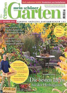 🍃 Die besten Ideen für den #Herbst-#Garten 🍂 Jetzt in Mein schöner Garten, Ausgabe 10/2016. #Blumen #Pflanzen #Landgarten #Früchte #Ernte