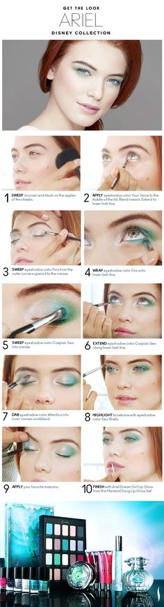 Wanted this she shadow palette so bad :(   Beauty How To: The Disney Ariel Look #Sephora #makeup #makeuptutorial