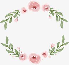 Vector png,Pink,Pink flower rattan,Flower rattan border,Romantic flower vine,romantic vector,pink vector,flower vector,bones vector,border vector