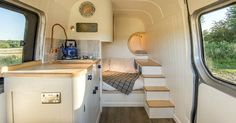 Inspired Picture of Sprinter Van Conversion Interiors. Sprinter Van Conversion Interiors Converted Sprinter Van Is A Cozy Tiny Home On Wheels Curbed Conversion Van, Sprinter Van Conversion, Van Conversion Interior, Mercedes Sprinter, Benz Sprinter, Mercedes Benz, Interior Trailer, Campervan Interior, Camping Car Sprinter