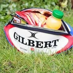 England Rugby Ball Insulated Lunch Bag - Authentic Gilbert Ball