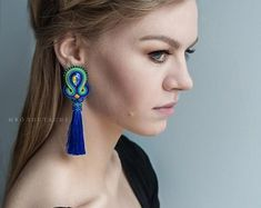 Check out our soutache earrings selection for the very best in unique or custom, handmade pieces from our shops. Soutache Earrings, Etsy Earrings, Drop Earrings, Etsy Seller, Victoria, Beads, Unique, Handmade, Fashion