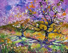 Spring In Provence Oil Painting by Ginette
