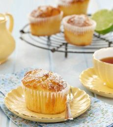White Chocolate Lime Friands - Enjoy these moist little French inspired white chocolate cakes with an espresso, or add a dollop of cream and serve for dessert.