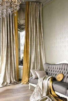 Need that but instead of gold,a bright blue. Love the curtains!! lovely D