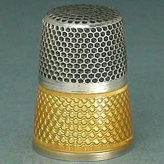 Mystery Antique Enameled Band Silver Thimble * Germany / France * Circa 1900
