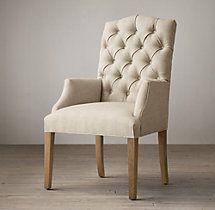 Bennett Camelback Fabric Armchair