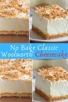 No Bake Classic Woolworth Cheesecake #No #Bake #Classic #Woolworth #Cheesecake