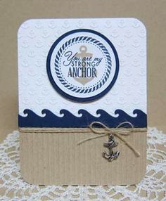 Card by Wanda Cullen using Strong Anchor from Verve Stamps.  #vervestamps