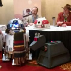 Droids in disguise at #timegate2016 #R2D2 #K9 #TimeGate #DoctorWho #StarWars Not the #Droids you're looking for.