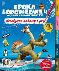 Oto najfajniejsza książka z pomysłami na zabawy i gry, w której można spotkać bohaterów wszystkich 4 filmów z serii Epoka lodowcowa!