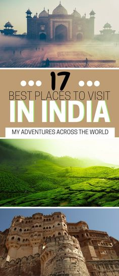 The best places to visit in India: an extensive list of Inida best cities + historical sites + natural wonders. | India best things to do | India bucket list | Best things to do in India | What to do in India - via @clautavani