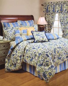 """Imperial Dress is a classic Waverly® pattern that is inspired by traditional Jacobean patterns. True to Waverly® tradition, the styling is consistent with being traditional with a modern twist. Set includes comforter, two shams and a bedskirt. The bedskirt has a 15"""" drop. Window treatments and decorative pillows sold separately. Comforter reverses to cotton 220 thread count. 100% Cotton."""