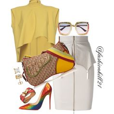 A fashion look from June 2017 by fashionkill21 featuring Marni, Murmur, Christian Louboutin, Christian Dior and Gucci
