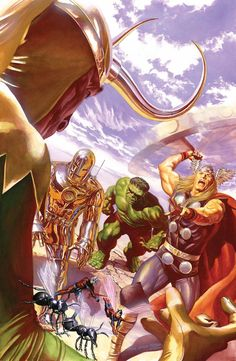 #Avengers #Fan #Art. (ALL-NEW, ALL-DIFFERENT AVENGERS Variant #1 Cover) By: Alex Ross. (THE * 5 * STÅR * ÅWARD * OF * MAJOR ÅWESOMENESS!!!™)