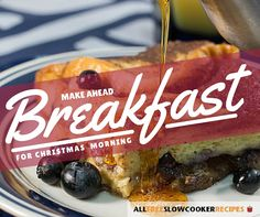 Make Ahead Breakfast Recipes for Christmas